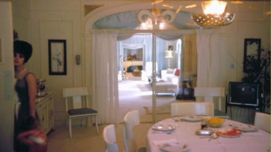 Priscilla in the Graceland Dining Room Mid 60s