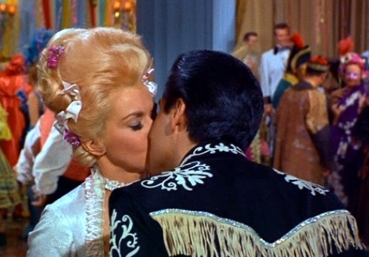 Elvis Kissing Donna Douglas in Frankie and Johnny