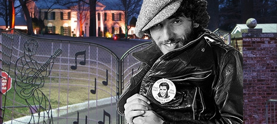 Bruce Springsteen Getting Readto Jump Elvis Presley's Graceland Wall