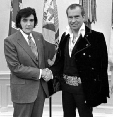 Elvis and Nixon -- Heads Reversed