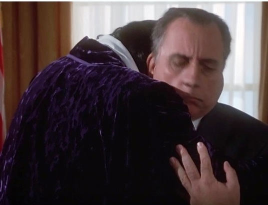 Elvis and Nixon Hugging in Oval Office