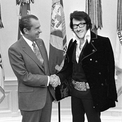 Nixon and Elvis Costello