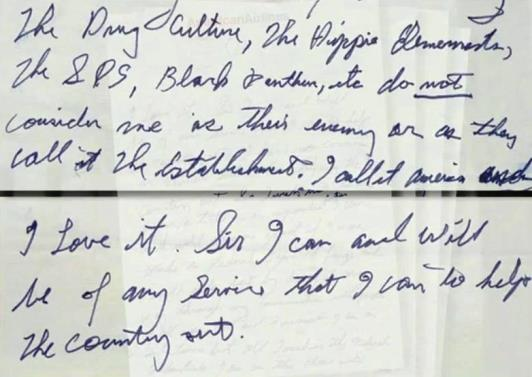 Elvis' Letter to Nixon - The Hippie Element