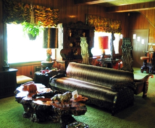 Cypress Plank Table in Graceland Jungle Room