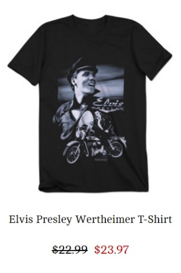Elvis Al Wertheimer T-Shirt - all sizes
