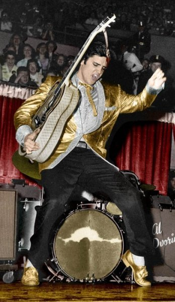 Elvis Doing his Moves