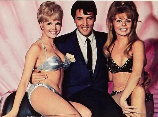 Elvis and Two Babes