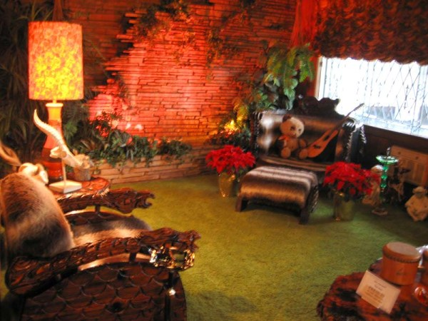 Rock Waterfall in Graceland Jungle Room