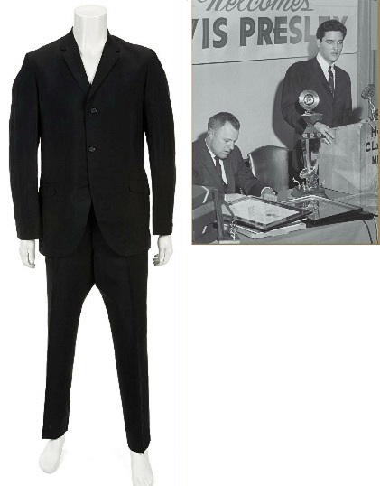 Elvis Presley Black Mohair Suit from Lansky Bros