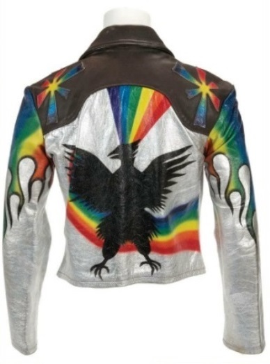 Elvis Presley's Painted Leather Jacket - Back
