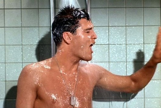 Elvis Singing in a Shower
