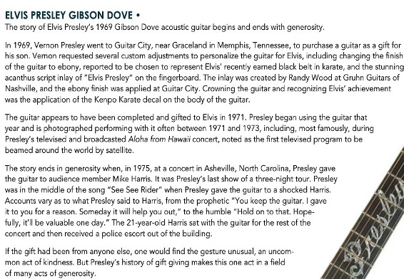 Gibson Dove Guitar Text