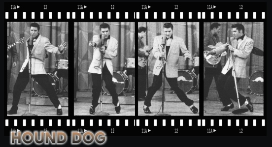 Shots of Elvis on Milton Berle Show
