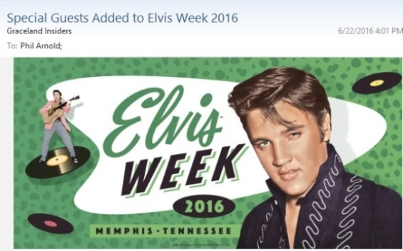 Special Guests Added to Elvis Week