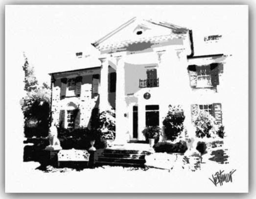 Elvis, Graceland Mansion by Joe Petruccio