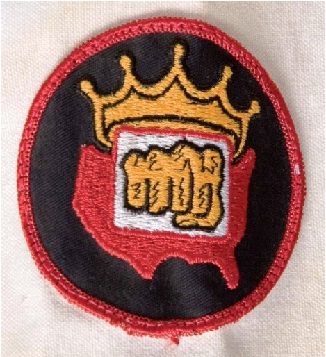 Elvis' Karate Gi Crown-Fist Patch