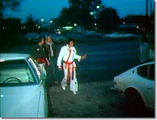 Elvis Outside in his Karate Gi
