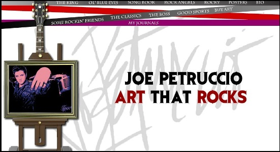 Joe Petruccio - Art That Rocks Website