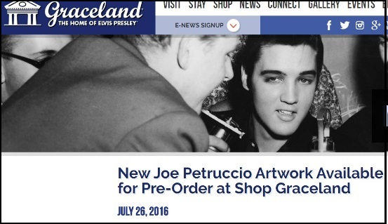 Joe Petruccio Elvis Artwork Avilable at Graceland