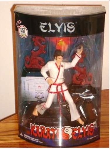 Karate Elvis figurine