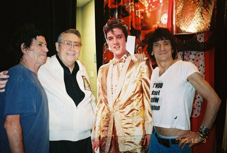 Keith, Scotty, Elvis, and Bill Backstage at Rolling Stones Concert