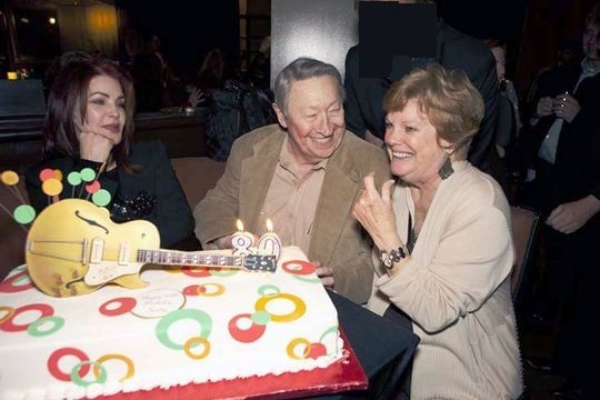 Priscilla Presley, Scotty Moore, and Gail Pollock