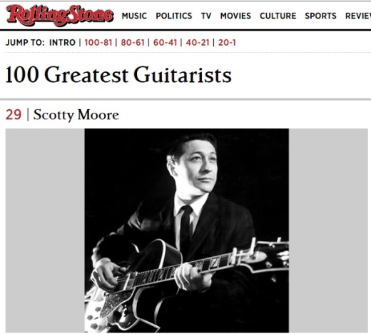 Rolling Stone's 100 Greatest Guitarists -- # 29 Scotty Moore