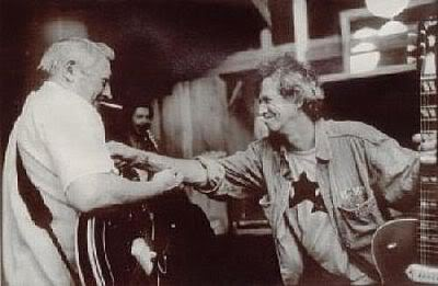 Scotty Moore Keith Richards Recording Duece and a Quarter.