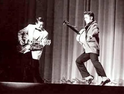 Scotty Moore and Elvis Presley Performing at New Frontier Hotel 1956