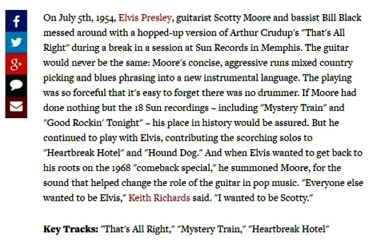 Scotty Moore's Bio on Rolling Stone