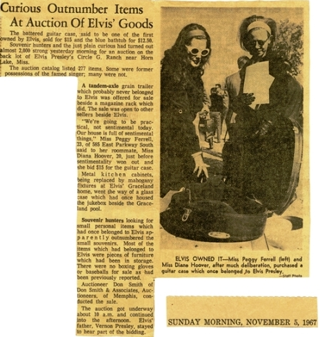 Article on the girls with Elvis' Guitar Case