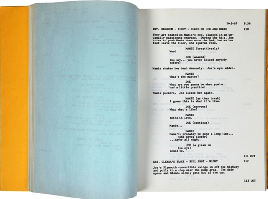 Blue Pages in Elvis' Stay Away Joe Script