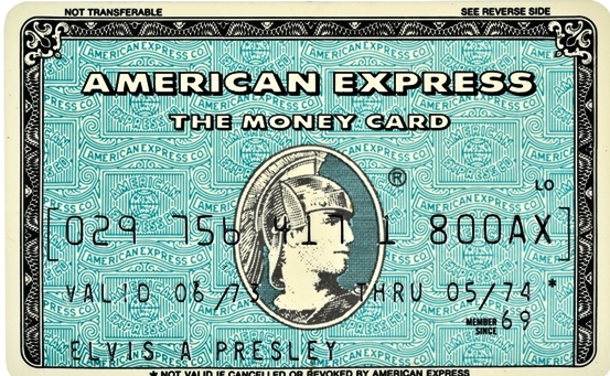 Elvis' American Express Card