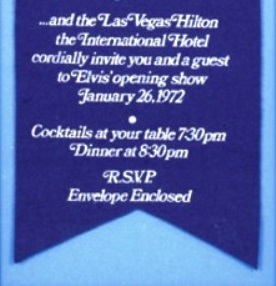 Elvis Hilton Hotel Show Invitation