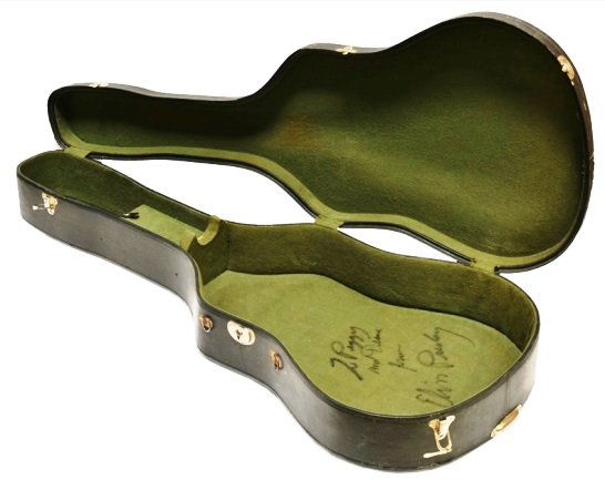 Elvis Presley Signed Guitar Case