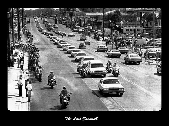 Elvis Presley's Funeral Procession