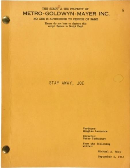 Elvis - Stay Away, Joe Script