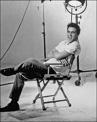 Elvis in Director's Chair