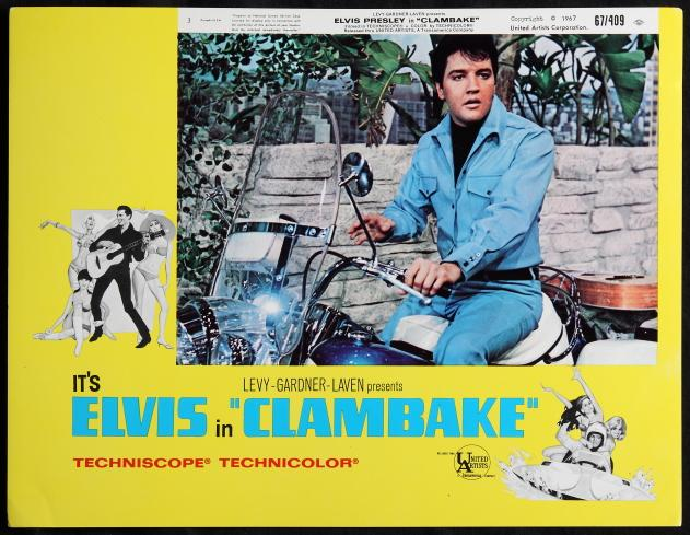 Elvis on Motorcycle in Clambake