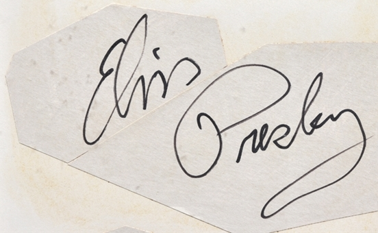 Five Inch Elvis Presley's Signature