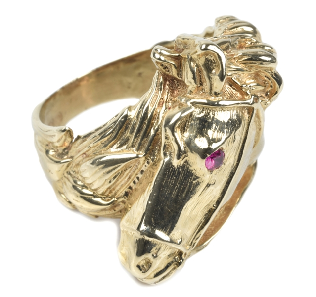 The Auction at Graceland Horse Head Ring
