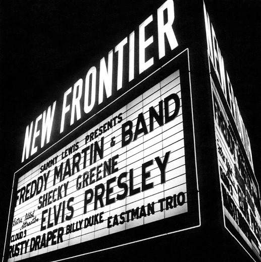 Billboard for Elvis' Performance at the New Frontier Hotel