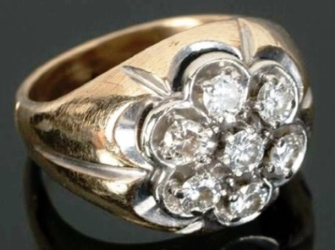 Elvis Presley's Diamond Circular Ring