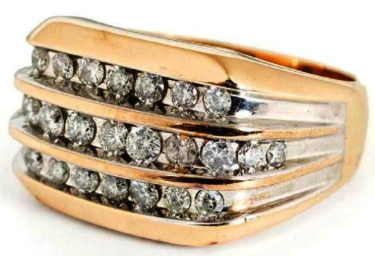Elvis Presley's Three-Channel Diamond Ring