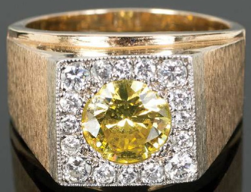 Elvis Presley's Yellow Canary Irrddiated Diamond Ring