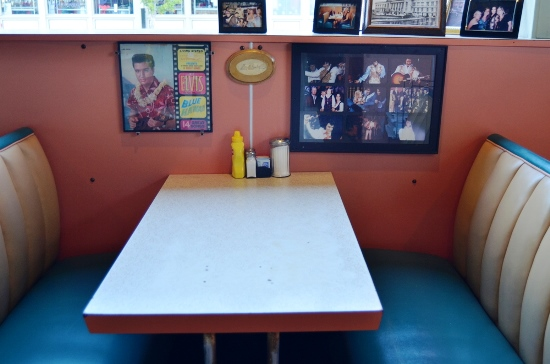 Elvis' Booth at Arcade Restaurant