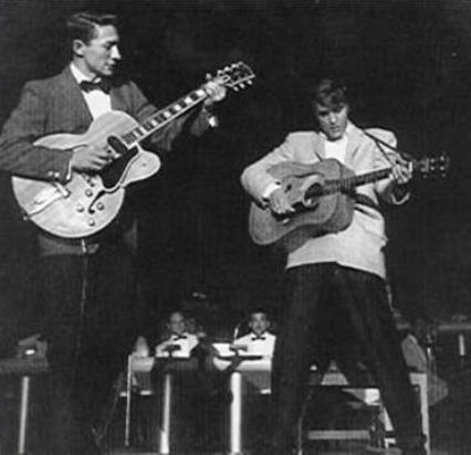 Elvis Wth Scotty Moore Performing at Venus Showroom