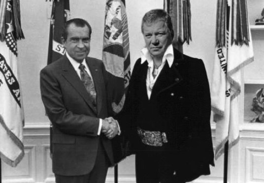 Nixon with William Shatner as Elvis