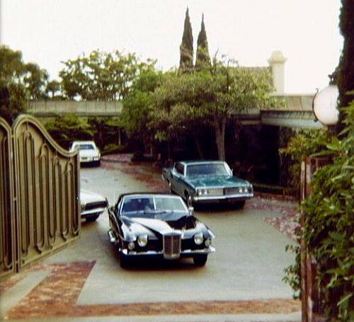 Elvis' cars at Hillcrest Court