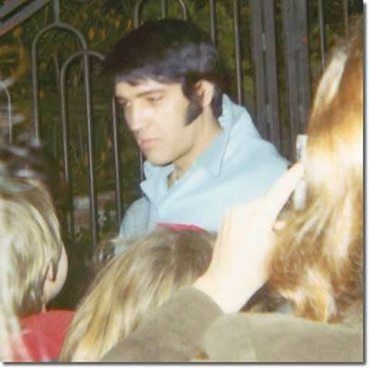Elvis with Fans at Hillcrest Dr Gates
